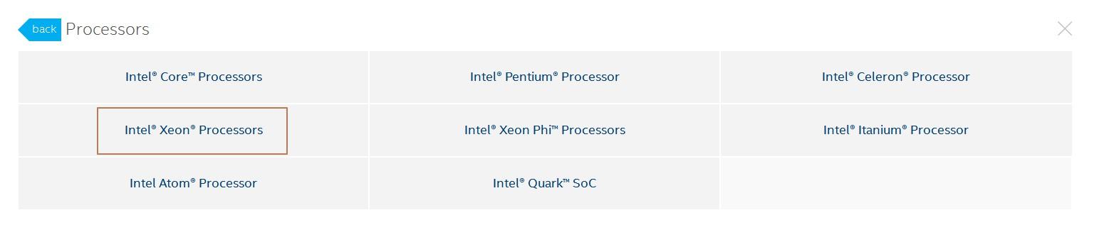 Intel产品参数比较工具