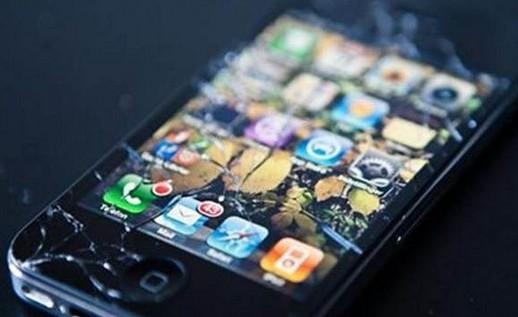 破碎的手机屏幕