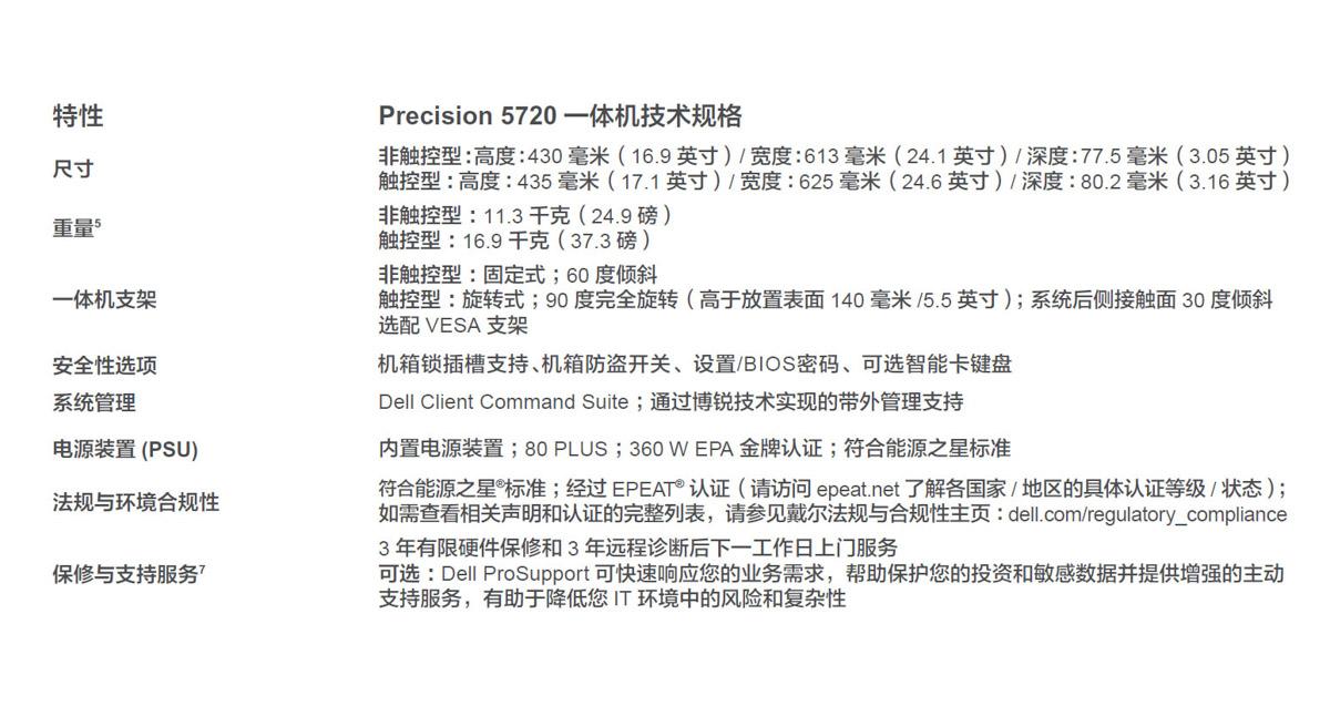 全新戴尔Precision 5720一体机工作站开箱
