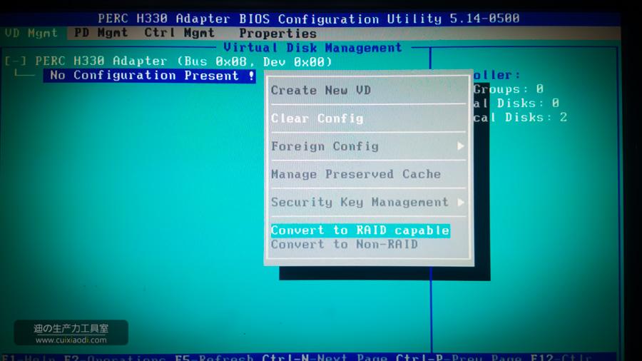 DELL PERC H330阵列卡做Raid图示